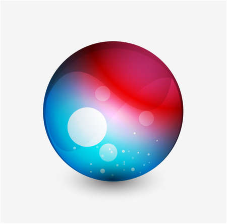 Abstract sphere button Vector