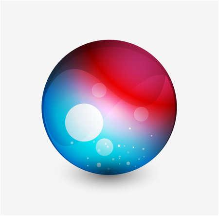 Abstract sphere button Vector