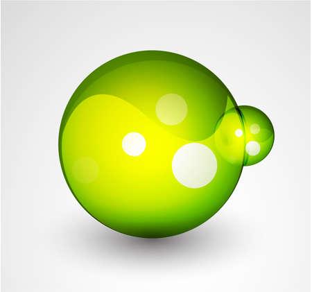 Abstract sphere button Stock Vector - 9988331