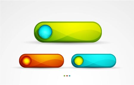 three colored: three colored buttons Illustration