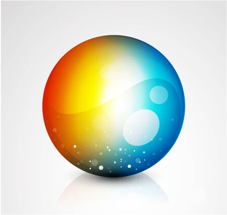 Abstract sphere button Stock Vector - 9988574