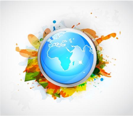 Earth globe conceptual background Vector