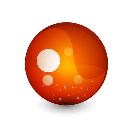 Abstract sphere button Stock Vector - 9988395