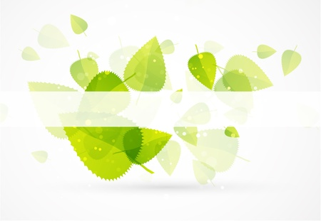 clean energy: Leaf abstract background Illustration