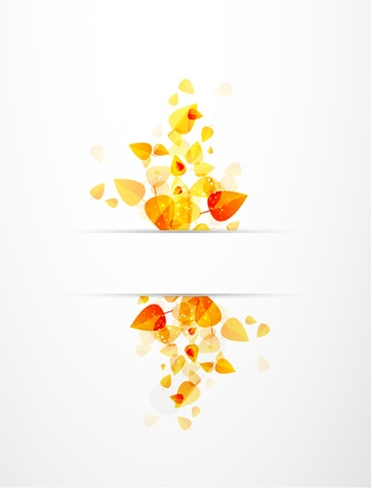 Autumn vector leaves background Stock Vector - 10172052