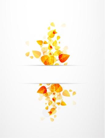 orange swirl: Autumn vector leaves background