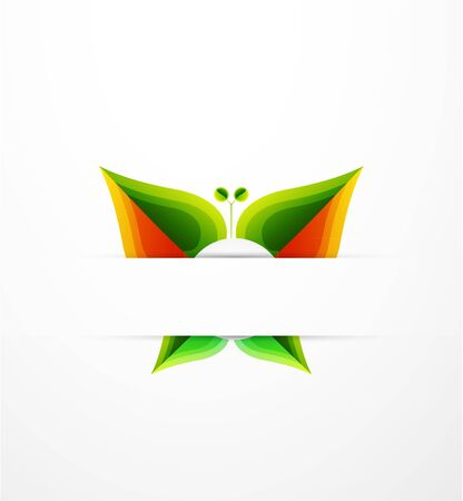 Vector nature leaf butterfly concept photo
