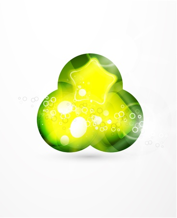 Green glass sphere vector background Vector