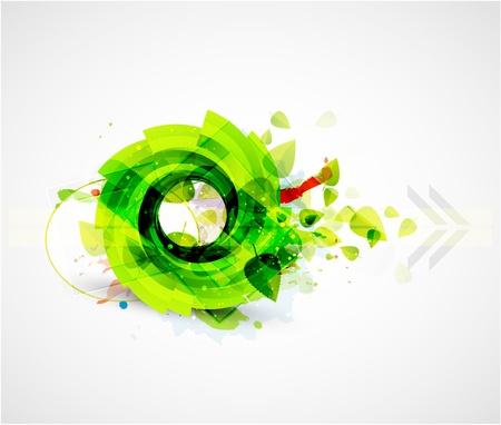 green smoke: Abstract green swirl nature background