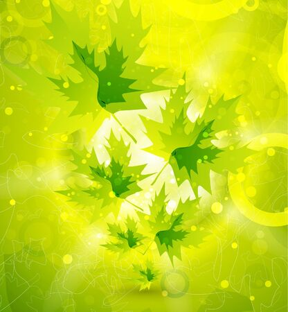 Vector leaf abstract background photo