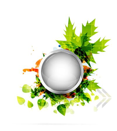 Vector nature abstract circle background photo