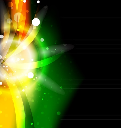 Glowing shiny abstract background Vector
