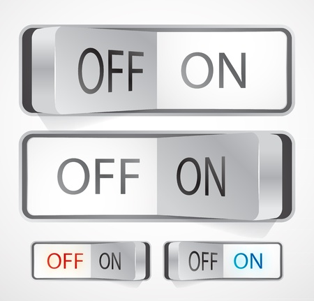 off on: Toggle switch Illustration