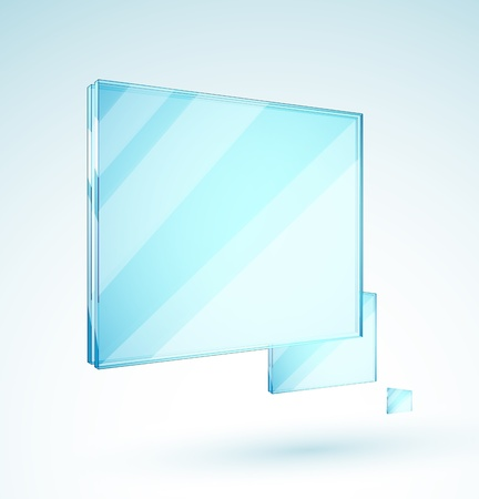 metal sheet: Vector glass plates Illustration