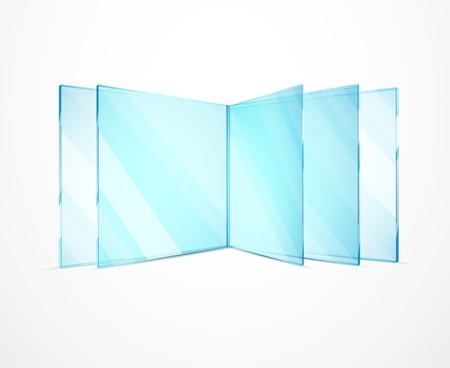 Vector glass plates Ilustrace
