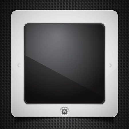 Stylized tablet computer isolated on black Stock Photo - 10455512
