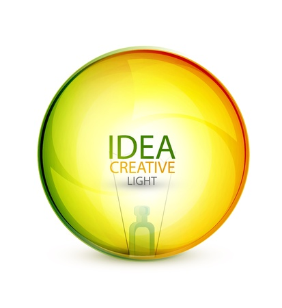 shining light: Colored glossy idea bubbles