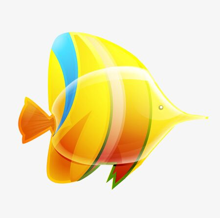 Tropical fish isolated on white Stock Photo - 10455464