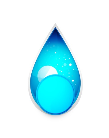 hydraulics: Glossy waterdrop icon