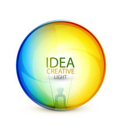 circle design: Vector glossy idea bubble
