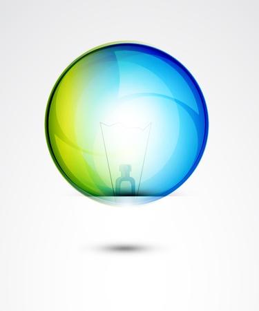 Vector glossy idea bubble Stock Photo - 10455480