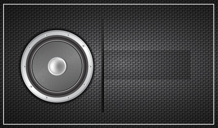 Black loudspeaker business card photo