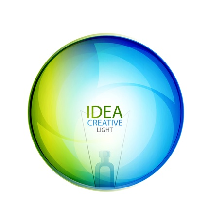 Vector glossy idea bubble Stock Photo - 10455491