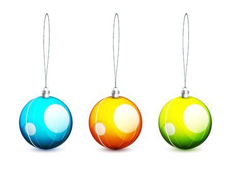 Colored vector christmas balls Stock Vector - 10455623