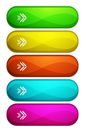 Colored vector buttons Vector