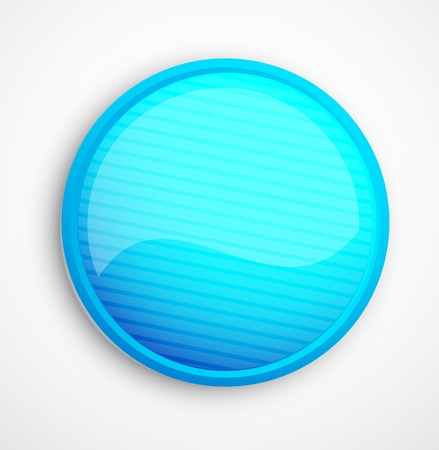 Blue vector abstract glossy button Stock Vector - 10455609