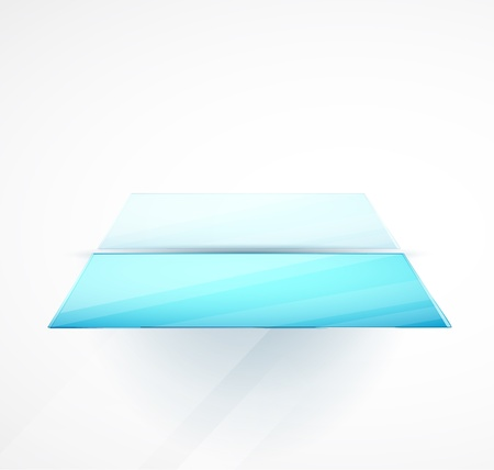 expansive: Blue glossy vector shelf