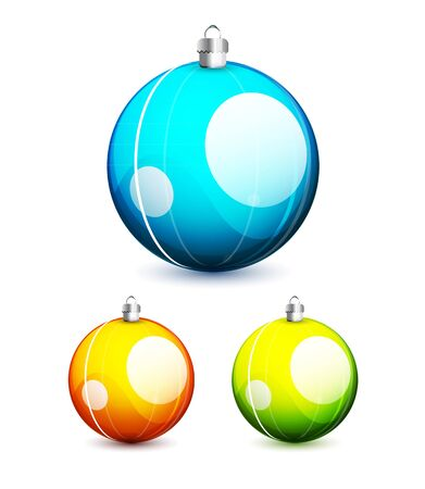 babble: Shiny christmas balls Illustration