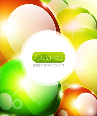 Vector glossy sphere colorful background Stock Vector - 10475932