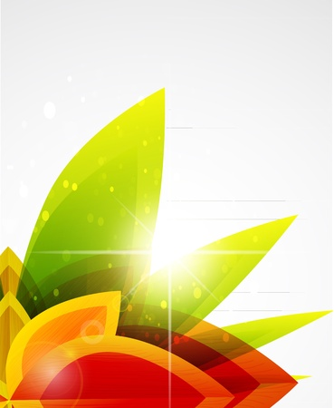 vector abstract: Vector abstract autumn leaf background