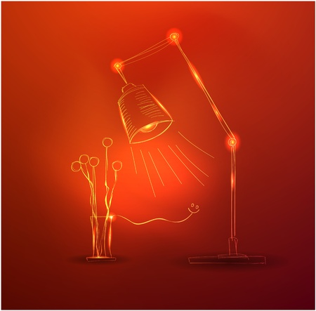 Vector hand-drawn glowing light concepts Vector