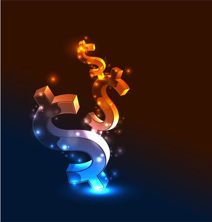 Vector abstract glowing money concept background Stock Vector - 10475906