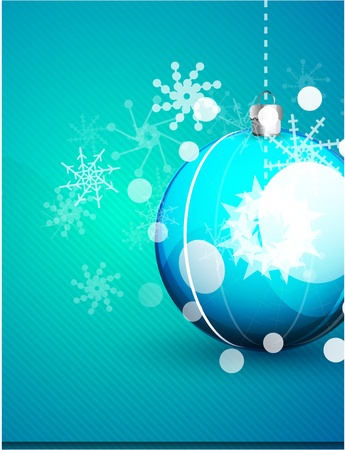 Shiny blue vector christmas balls background Stock Vector - 10475965