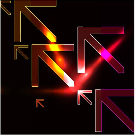 Vector abstract glowing background Stock Vector - 10475551