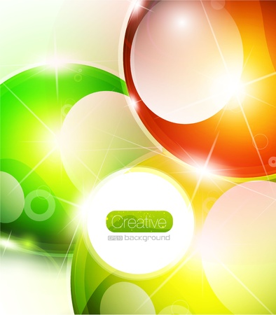 Vector glossy sphere colorful background Stock Vector - 10475904