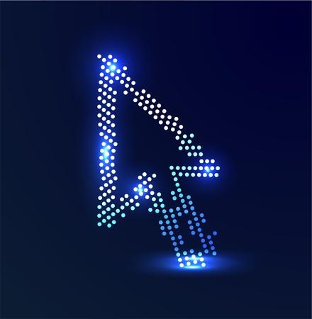 clic: Vector glowing colorful cursor