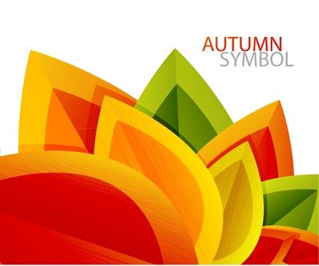 ベクトル抽象的な秋の葉の背景  イラスト・ベクター素材