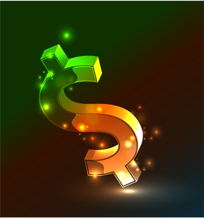 Vector abstract glowing money concept background Vector