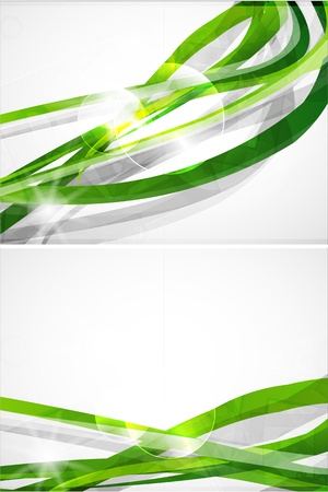 Abstract green lines vector brochure photo