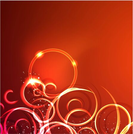 Vector abstract glowing swirl background Stock Vector - 10475882