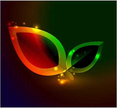 Vector abstract glowing background Stock Vector - 10475640