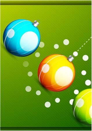 Shiny christmas balls Stock Photo - 10475615