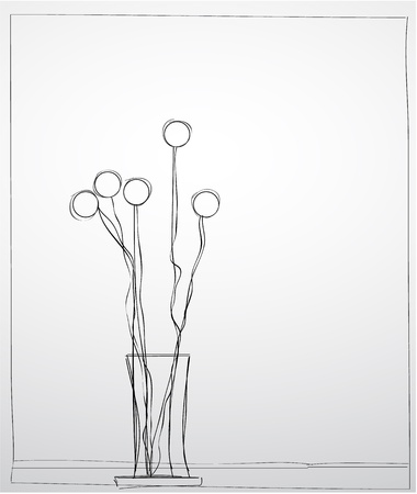 ikebana: Hand-drawn ikebana