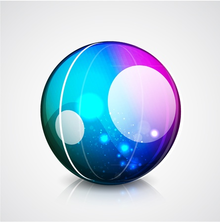 Vector glossy sphere colorful background Vector