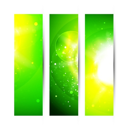 Vector abstract  green shiny background Vector