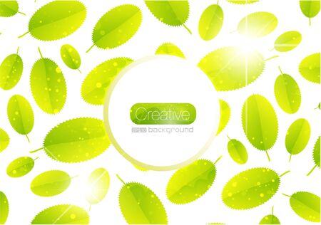 Vector abstract summer leaf background Vector
